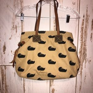 Dooney and Burke duck printed bag